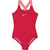 Nike Girl's Nova Flare Prism Crossback Swimsuit