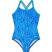 Nike Girls' Rush Heather Spider Back Swimsuit