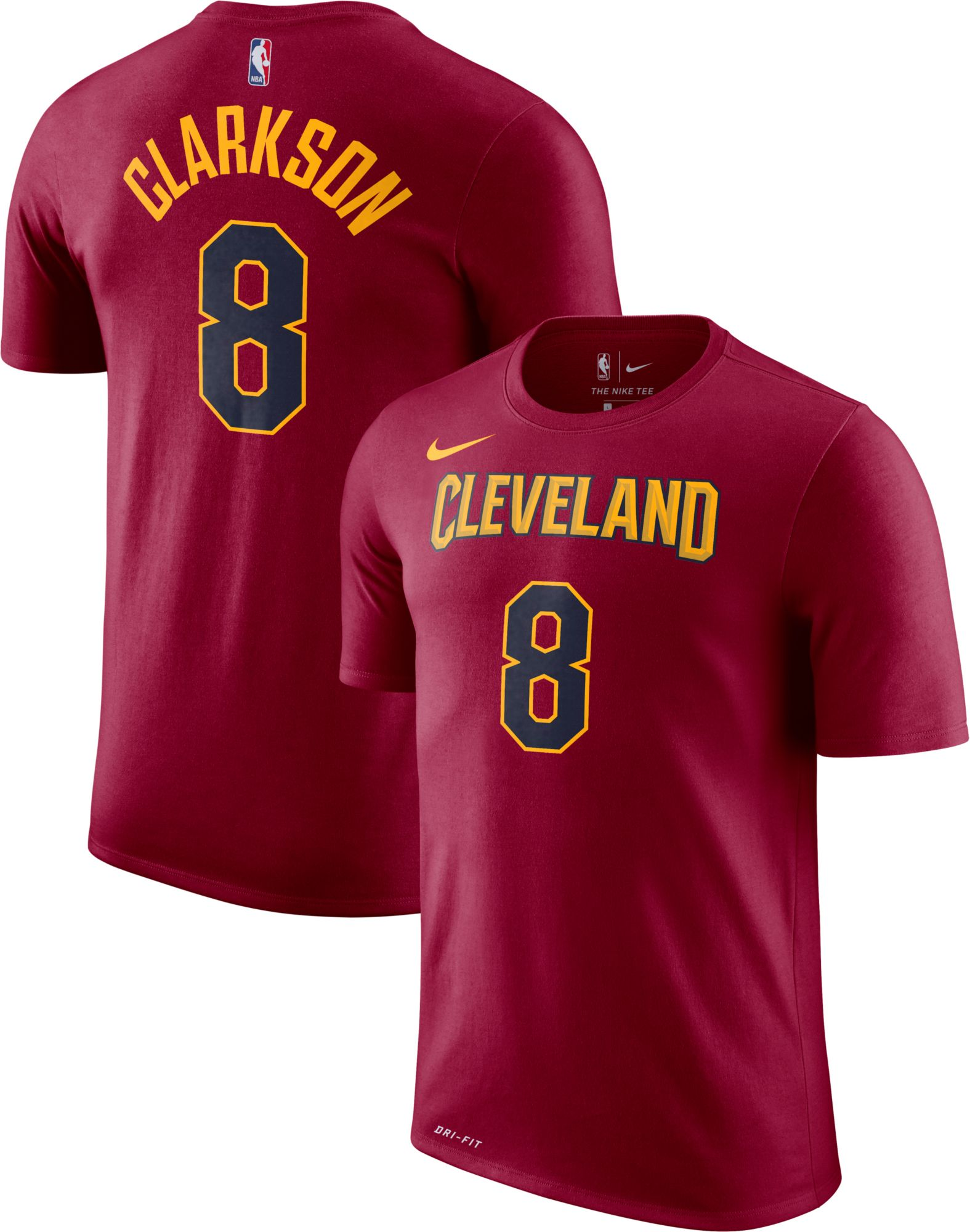 1b62d635a361 womens jordan clarkson 8 cleveland cavaliers burgundy jersey
