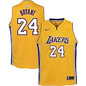 Nike Youth Los Angeles Lakers Kobe Bryant #24 Gold Dri-FIT Swingman Jersey