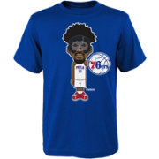 Nike Youth Philadelphia 76ers Joel Embiid Mask Cartoon T-Shirt