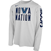Nike Youth Villanova Wildcats 'Nova Nation' Bench Legend Long Sleeve White T-Shirt