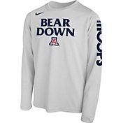Nike Youth Arizona Wildcats 'Bear Down' Bench Legend Long Sleeve White T-Shirt