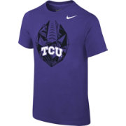 Nike Youth TCU Horned Frogs Purple Football Icon T-Shirt
