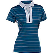 Nancy Lopez Women's Crystal Short Sleeve Golf Polo - Plus Size