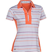 Nancy Lopez Women's Crystal Short Sleeve Golf Polo - Plus Size