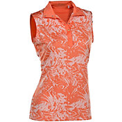 Nancy Lopez Women's Palmy Sleeveless Golf Polo