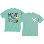 New World Graphics Women's West Virginia Mountaineers Green Flower T-Shirt
