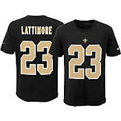 Nike Youth New Orleans Saints Marshon Lattimore #23 Pride Black T-Shirt