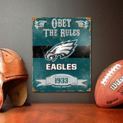 Party Animal Philadelphia Eagles Embossed Metal Sign