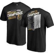 NHL Men's 2018 NHL Western Conference Champions Vegas Golden Knights Roster T-Shirt