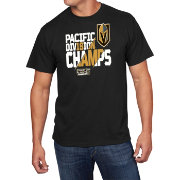 NHL Men's 2018 NHL Division Champions Vegas Golden Knights Black T-Shirt