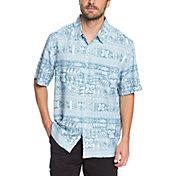 Quiksilver Men's Waterman Akuaku Fish Short Sleeve Shirt