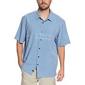 Quiksilver Men's Waterman Tahiti Palms 4 Short Sleeve Shirt