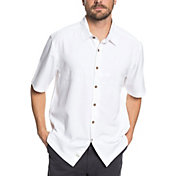 Quiksilver Men's Waterman Tahiti Palms 4 Short Sleeve Shirt