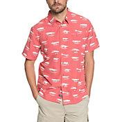 Quiksilver Men's Waterman Wake Lures Short Sleeve Shirt