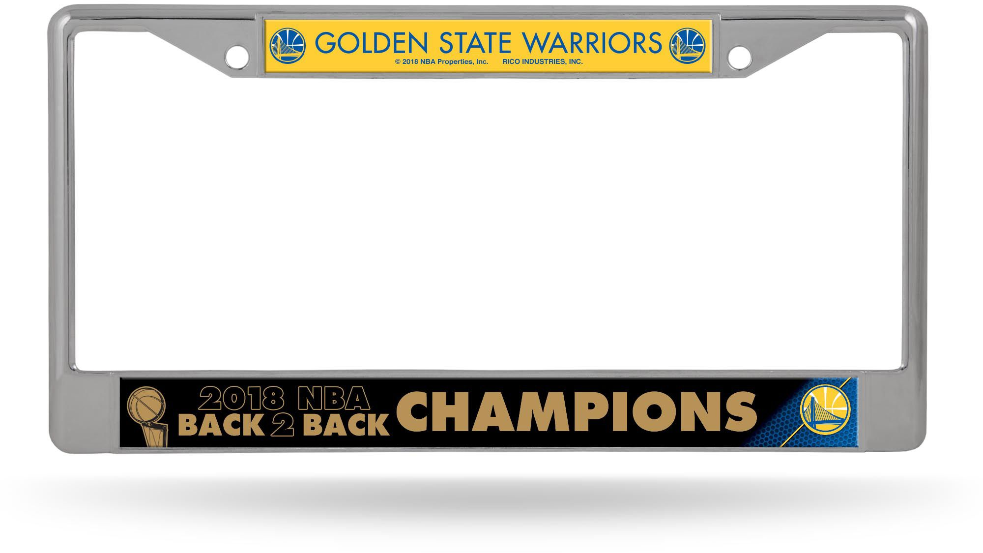 Rico 2018 NBA Champions Golden State Warriors Chrome License Plate ...
