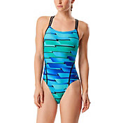 Speedo Women's Ombre Daze Volt Back Swimsuit