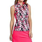 Tail Women's Sleeveless ¼ Zip Golf Mock Neck