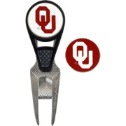 Team Effort Oklahoma Sooners CVX Divot Tool and Ball Marker Set