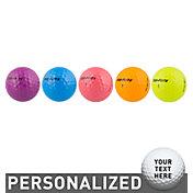 Top Flite Women's D2+ Diva Neon Personalized Golf Balls – 15 Pack