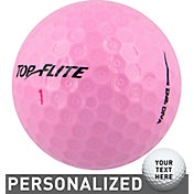 Top Flite Women's D2+ Diva Pink Personalized Golf Balls – 15 Pack