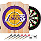 Trademark Global Los Angeles Lakers Dart Cabinet Set