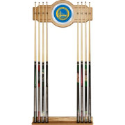 Trademark Global Golden State Warriors Cue Rack with Mirror