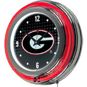 Trademark Global Georgia Bulldogs Reflection Neon Clock