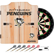 Trademark Global Pittsburgh Penguins Dart Cabinet Set