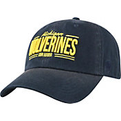Top of the World Men's Michigan Wolverines Blue Lockers Adjustable Hat