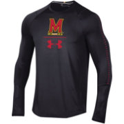 Under Armour Men's Maryland Terrapins Training Long Sleeve Performance Black T-Shirt