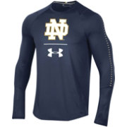 Under Armour Men's Notre Dame Fighting Irish Navy Training Long Sleeve Performance T-Shirt