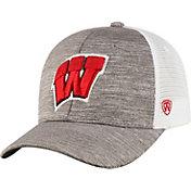 Top of the World Men's Wisconsin Badgers Grey Warmup Adjustable Hat