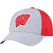 Top of the World Men's Wisconsin Badgers Grey/Red Faboo 1Fit Hat