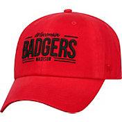 Top of the World Men's Wisconsin Badgers Red Lockers Adjustable Hat
