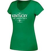 J. America Women's Kentucky Wildcats Green St. Paddy's Day V-Neck Tee