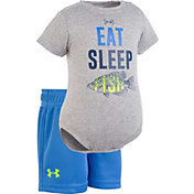 Under Armour Newborn Boys' Eat Sleep Fish Onesie/Short Set