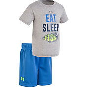 Under Armour Infant Boys' Eat Sleep Fish T-Shirt/Short Set
