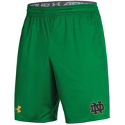 Under Armour Men's Notre Dame Fighting Irish Green Training Performance Shorts