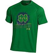 Under Armour Men's Notre Dame Fighting Irish Green Tech Performance Hockey T-Shirt