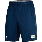 Under Armour Men's Notre Dame Fighting Irish Navy Training Performance Shorts