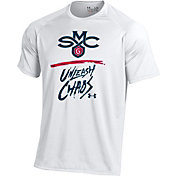 Under Armour Men's Saint Mary's Gaels 'Unleash Chaos' Bench Tech White T-Shirt