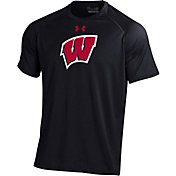 Under Armour Men's Wisconsin Badgers Tech Performance Black T-Shirt