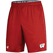 Under Armour Men's Wisconsin Badgers Red Training Performance Shorts