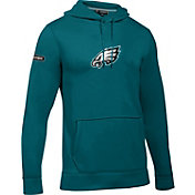 Under Armour NFL Combine Authentic Men's Philadelphia Eagles Primary Logo Green Hoodie
