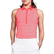 Under Armour Women's Zinger Novelty Sleeveless Golf Polo