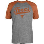 University of Texas Authentic Apparel Men's Texas Longhorns Grey/Burnt Orange Strikezone Raglan Baseball T-Shirt