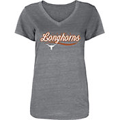 University of Texas Authentic Apparel Women's Texas Longhorns Grey Duffy V-Neck T-Shirt