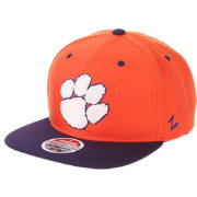 Zephyr Men's Clemson Tigers Orange/Regalia Script Adjustable Snapback Hat